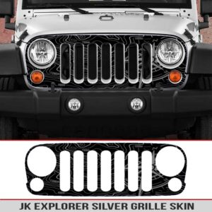jeep-wrangler-grille-skins-toppographic-map-explorer-compass-wrangler-decal-silver